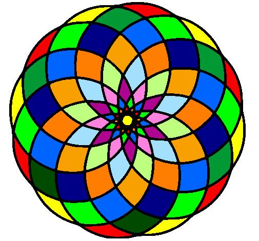 Coloring page Mandala 4 painted byWinny de pou(Britany)