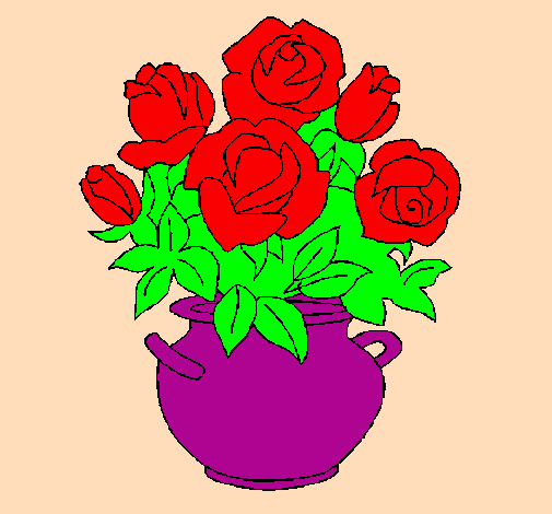 paint and color drawings of roses by the users of coloringcrew com