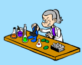 Coloring page Lab technician painted bylogan