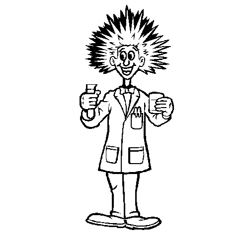 Coloring page Mad scientist painted byoataz