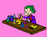 Coloring page Lab technician painted bypop