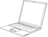 Coloring page Laptop painted byfd