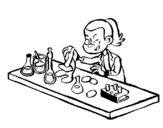 Coloring page Lab technician painted bymilo