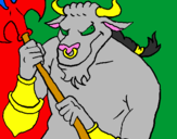 Coloring page Minotaur painted byjordy
