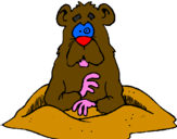 Coloring page Mole painted byjordy