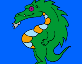 Coloring page Potbellied dragon painted byreubenb