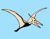 Coloring page Pterodactyl painted byAna