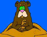 Coloring page Mole painted byJESSICA