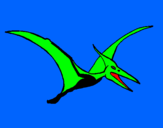 Coloring page Pterodactyl painted byfeba