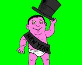 Coloring page Baby New Year painted byAna