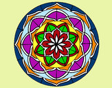 Coloring page Mandala 6 painted byKevin