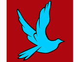 Coloring page Dove of peace in flight painted bychicaguay7