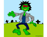 Coloring page Zombie painted bycolorana