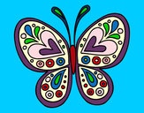 Coloring page Butterfly mandala painted bymajja