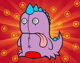 Coloring page Monstrous dinosaur painted byChlo