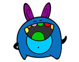 Coloring page Cheerful monster painted byjoshua