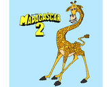 Coloring page Madagascar 2 Melman painted byArtIsLif3