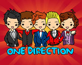Coloring page One direction painted byMoos