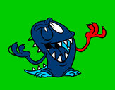Coloring page Wanton monster painted byjoshua