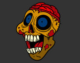Coloring page Bad zombie painted byt-bone