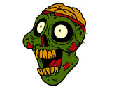 Coloring page Bad zombie painted bycema1cema