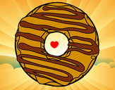 Coloring page Donut painted byleigh9
