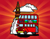 Coloring page London painted byaubrie