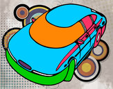 Coloring page Speedy car painted bykayla
