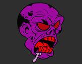 Coloring page Zombie Head painted byDaisy1DLUV
