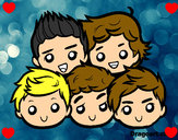 Coloring page One Direction 2 painted bypippo