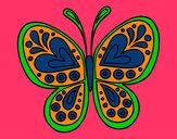 Coloring page Butterfly mandala painted byMANDALA1