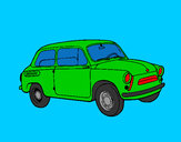 Coloring page Classic car painted byMANDALA