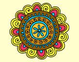 Coloring page Happy mandala painted byMANDALA1