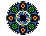 Coloring page Mandala flower painted byMANDALA1
