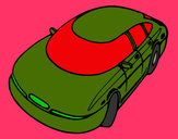 Coloring page Speedy car painted byMANDALA