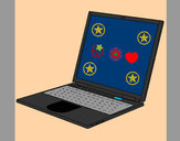 Coloring page Laptop painted byTyler