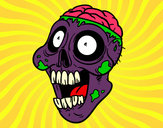 Coloring page Bad zombie painted byJennyGore