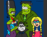 Coloring page Family of monsters painted byJennyGore