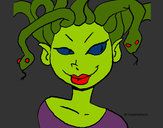 Coloring page Medusa painted byJennyGore