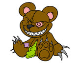 Coloring page Monstrous bear painted byJennyGore