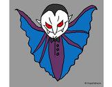 Coloring page Terrifying vampire painted byJennyGore
