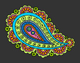 Coloring page Mandala teardrop painted byJennyGore