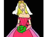 Coloring page Bride painted byAsia