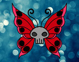 Coloring page Emo butterfly painted byGemma