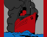 Coloring page Steamboat painted byJDWR