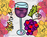Coloring page Red wine painted byjeweled95