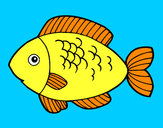 Coloring page Fish to eat painted bypakhi