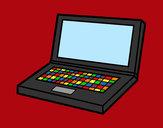 Coloring page Computer laptop painted byrainbow