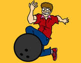 Coloring page Man bowling painted byBigricxi