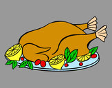 Coloring page Chicken with garnish painted bymaja5